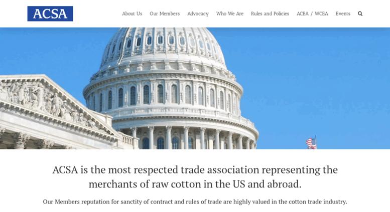 Mengenai American Cotton Shippers Association  (ACSA) yang Harus Anda Ketahui